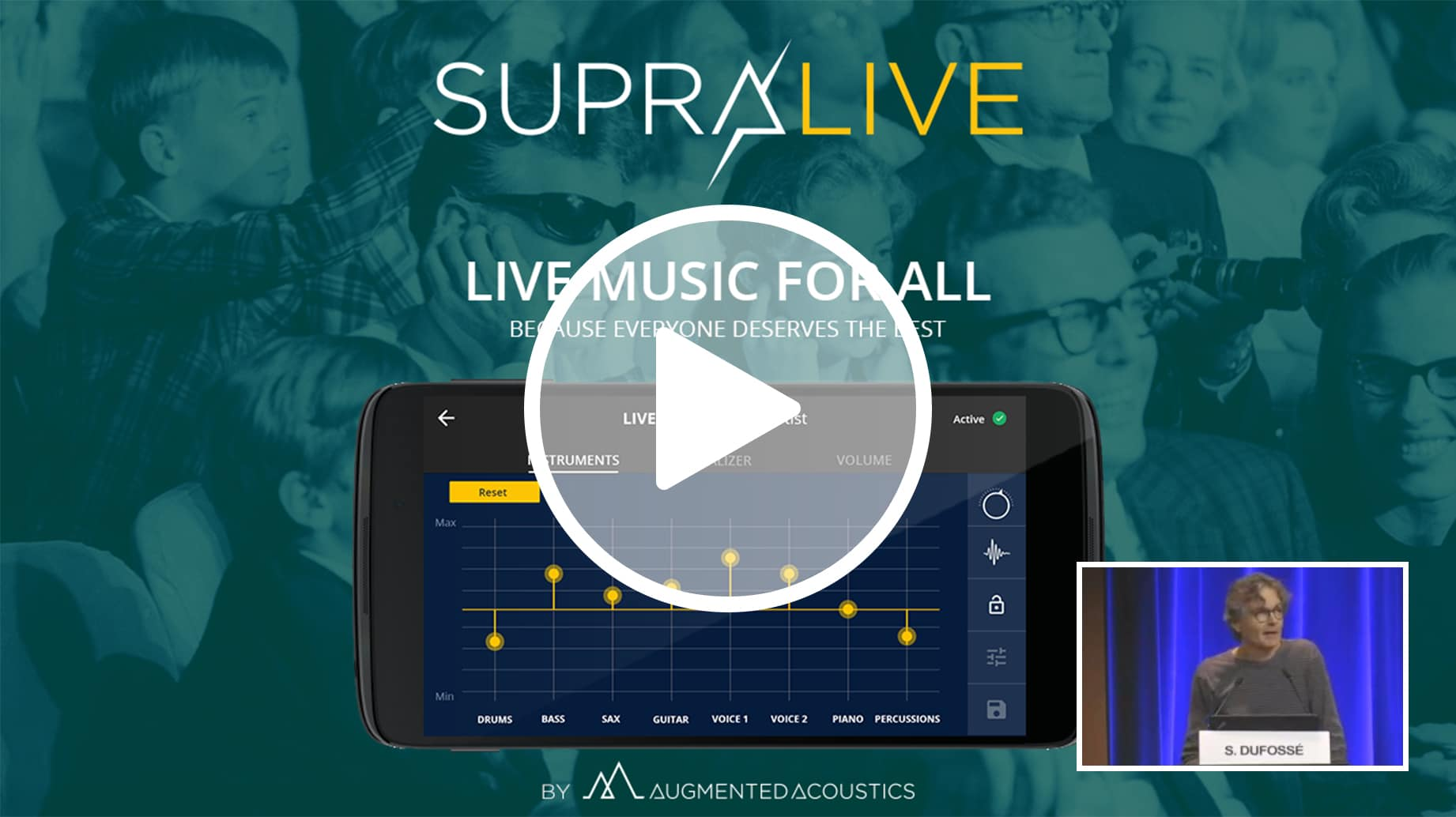 live music for all - Augmented acoustics