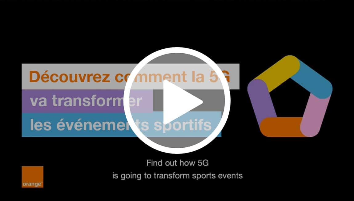 5G révolution sport avec orange
